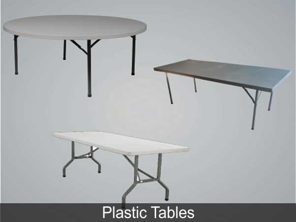 PLASTIC TABLES FOR SALE BY KENYA TENTS